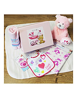 Personalised Baby Girl Complete Gift Set