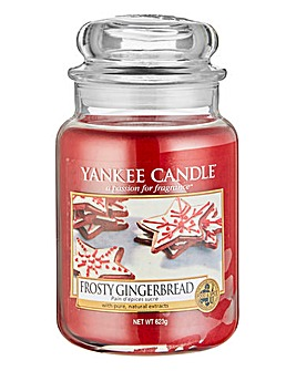 Yankee Candle Frosty Gingerbread Jar