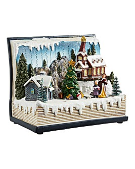 Village Scene Book with LED