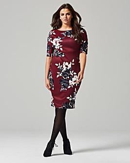 8b931df1f28 Ax Paris 3 4 Sleeve Scuba Dress