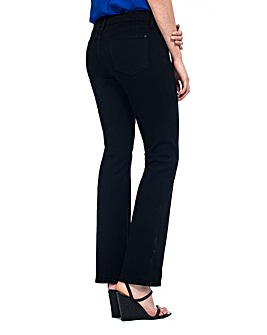 NYDJ Billie Mini Bootcut Black Jeans