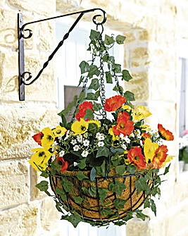 Poppy Ready Made Hanging Basket