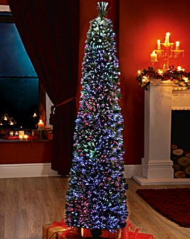 Green Fibre Optic Pencil Tree