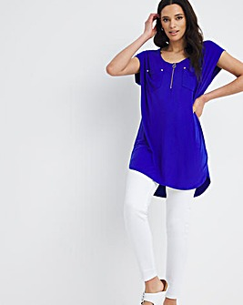 Utility Zip Front Jersey Tunic