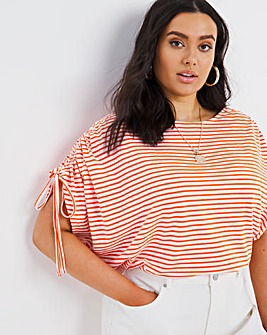Ruched Sleeve Detail Top