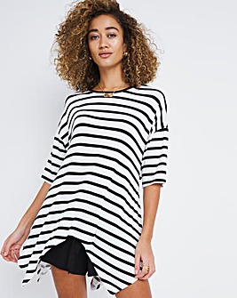 Oversized Stripe Hanky Hem