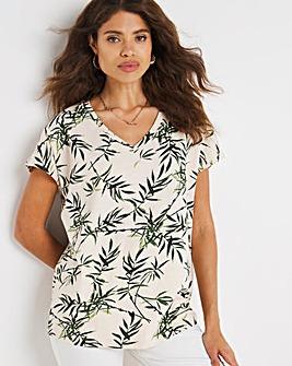 Fern Leaf Print T-Shirt