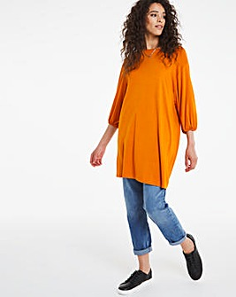 3/4 Sleeve Volume Tunic
