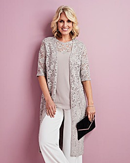 Lace Jacket and Vest Top