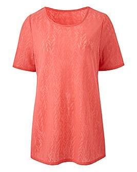 Julipa Jacquard Short Sleeve T-Shirt