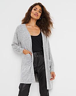 Knit Look Volume Sleeve Cardigan