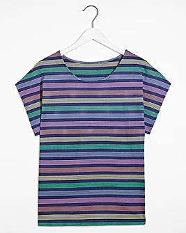 Black Rainbow Stripe T-Shirt