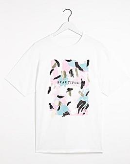 Beautiful Foil print T-shirt