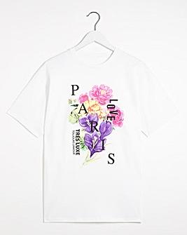 Floral Paris T-shirt