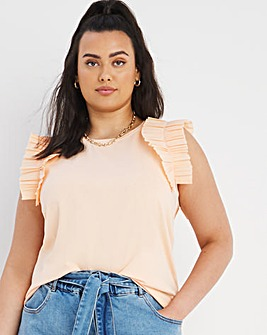 Cotton Frill Sleeve Top