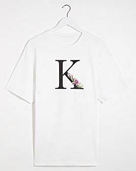 K' Initial T-shirt