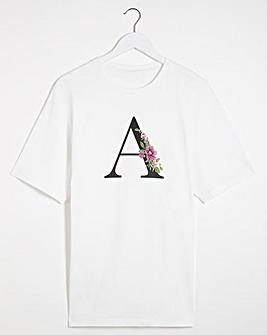 A' Initial T-shirt