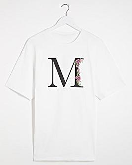 M' Initial T-shirt