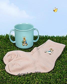 Peter Rabbit Mug and Sock Set