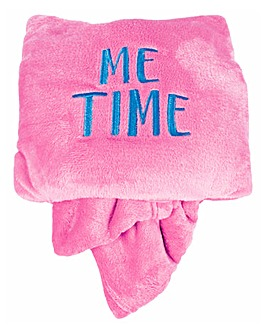 Me Time Pillow and Blanket