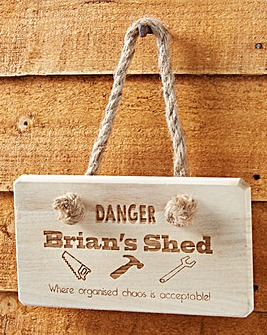 Personalised Shed Wooden Sign