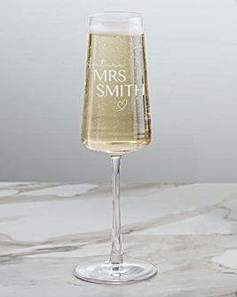 Personailsed Future Mrs Champagne Flute
