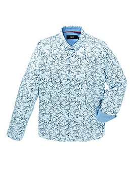 Black Label Floral Print Shirt Long
