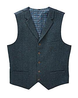 Black Label Tweed Waistcoat Reg