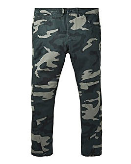Label J Camo Stretch Skinny Chino 31In
