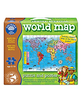 Orchard Toys World Explorer World Map Jigsaw