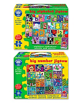 Orchard Toys Big Numbers & Big Alphabet 2 Pack Jigsaw Puzzle