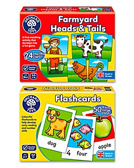 Orchard Toys My First Game Farmyard Heads & Tails & Animal Flash Cards
