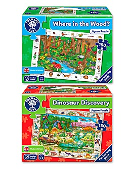 Pack of 2 Nature Past & Present Jigsaws
