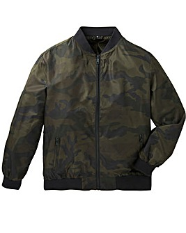 Label J Camo Print Bomber Jacket Long