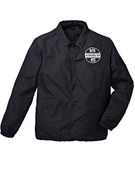 Label J Back Print Coaches Jacket