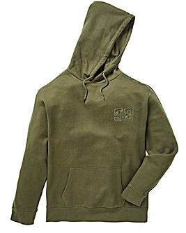 Label J Camo Trim Hoodie long