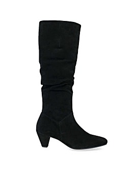 Gabor Rollo Medium Calf Ruched Boots