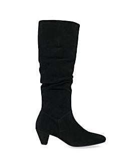 Gabor Rollo Medium Calf Ruched Boots