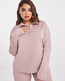 Pink Soda Olympic Sunset 1/4 Zip Top