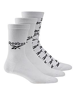 Reebok CL FO Crew 3 Pack Socks