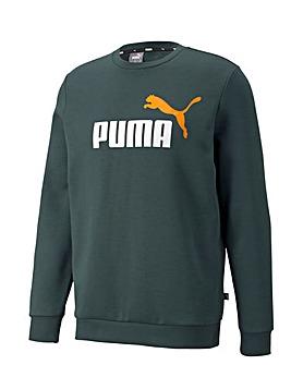 Puma Essential +2 Big Logo Crew Fleece