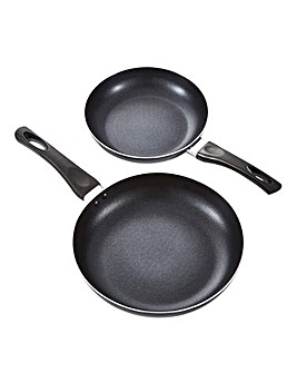Everyday Non-Stick Black Aluminium Frying Pan Set