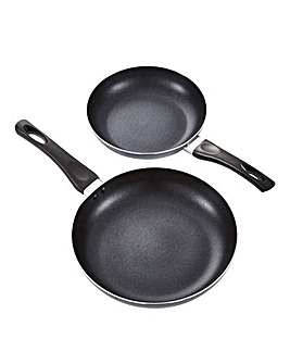 Everyday Non-Stick Grey Aluminium Frying Pan Set