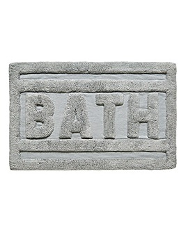 Bath Text Cotton Bath Mat