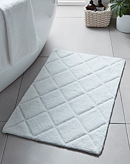 Diamond Embossed Bath Mat