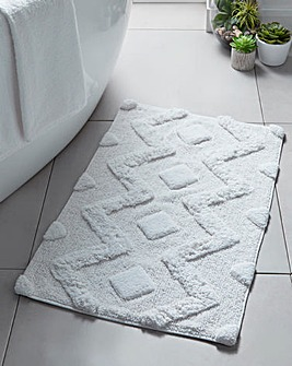 Woven Chevron Cotton Bath Mat