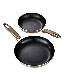 Supreme Set of 2 Non Stick Metallic Frying Pans
