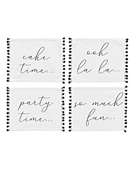 Paris Set of 4 Placemats