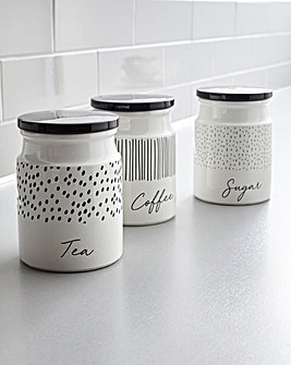 Paris Set of 3 Tea, Coffee, Sugar Canisters