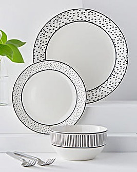 Paris 12 Piece Dinner Set